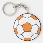 soccerball-orange key ring