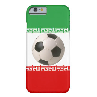 Soccerball with Iranian flag Barely There iPhone 6 Case