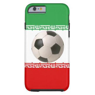 Soccerball with Iranian flag Tough iPhone 6 Case