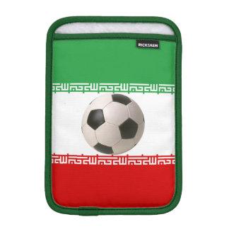 Soccerball with Iranian flag iPad Mini Sleeves
