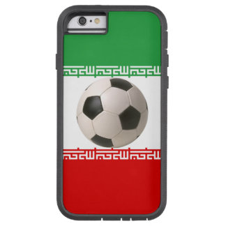 Soccerball with Iranian flag Tough Xtreme iPhone 6 Case