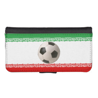 Soccerball with Iranian flag