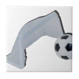 SoccerBallGoal050915 Small Square Tile