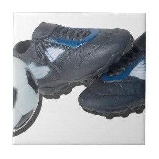 SoccerBallTrackShoes050915 Small Square Tile