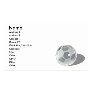 SoccerCrystalBall092110, Name, Address 1, Addre... Pack Of Standard Business Cards