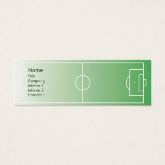 Soccerfield - Skinny Mini Business Card
