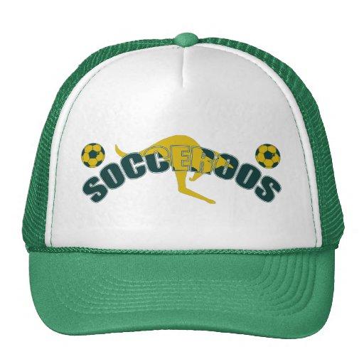 Socceroos fans Kangaroo logo and balls gifts Mesh Hat