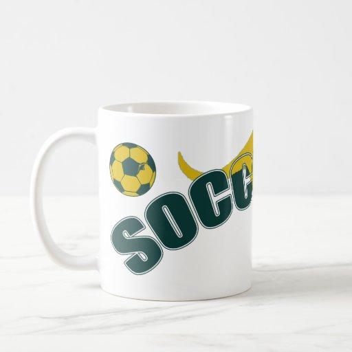 Socceroos fans Kangaroo logo and balls gifts Mug