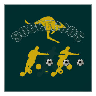 Socceroos soccer players Bend it Kangaroo gifts Posters