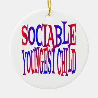 Sociable Youngest Child Christmas Ornament
