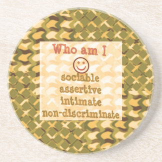 Social, ASSERTIVE Intimate - RELATIONSHIP lowprice Drink Coaster