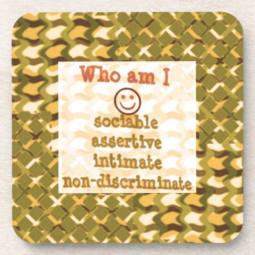 Social, ASSERTIVE Intimate - RELATIONSHIP lowprice Beverage Coaster