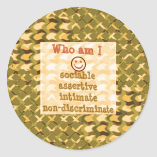 Social, ASSERTIVE Intimate - RELATIONSHIP lowprice Round Sticker