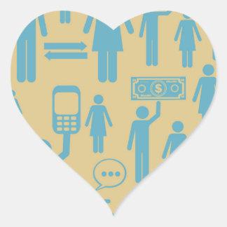Social average design heart sticker