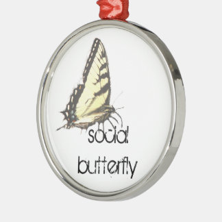 Social Butterfly Christmas Ornament