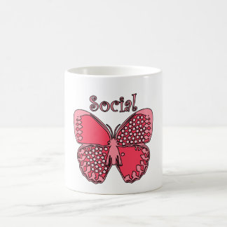 Social Butterfly Coffee Mug