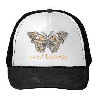 Social Butterfly Mesh Hats