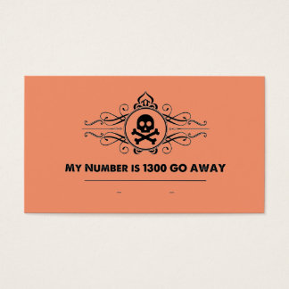 """Social Cards: """"My Number is 1300 GO AWAY"""""""