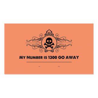 "Social Cards: ""My Number is 1300 GO AWAY"" Pack Of Standard Business Cards"