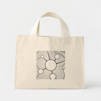 Social Circles Diagram Design Canvas Bags