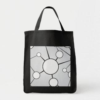 Social Circles Diagram Design Grocery Tote Bag