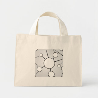 Social Circles Diagram Design Mini Tote Bag