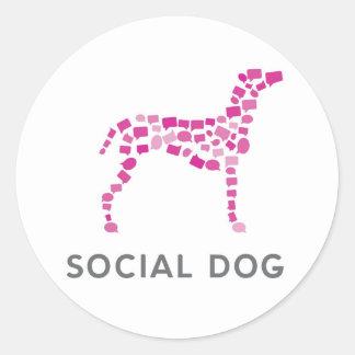 "Social Dog Media Stickers 1.5"""