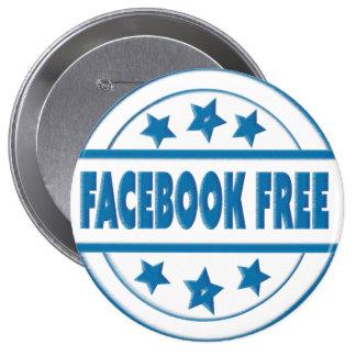 Social Facebook Free Your Custom Round Badge
