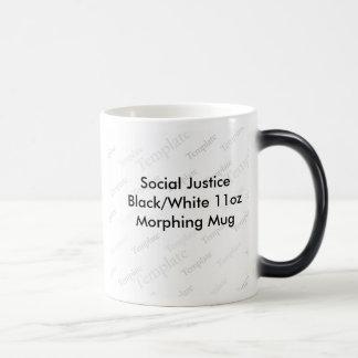 Social Justice Black/White 11oz  Morphing Mug