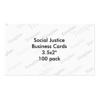 Social Justice Business Cards 3 5x2 100 pack