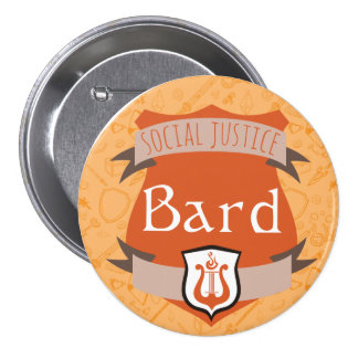 Social Justice Class Button: Bard 7.5 Cm Round Badge