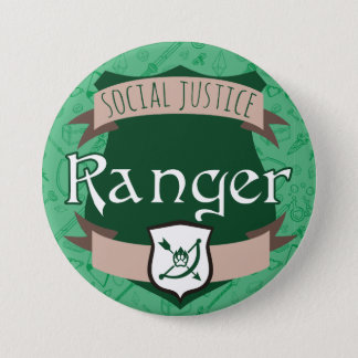 Social Justice Class Button: Ranger 7.5 Cm Round Badge