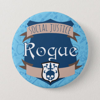 Social Justice Class Button: Rogue 7.5 Cm Round Badge