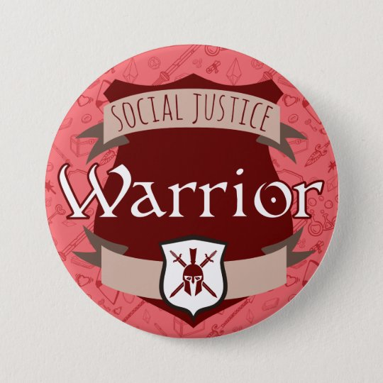 Social Justice Class Button: Warrior 7.5 Cm Round