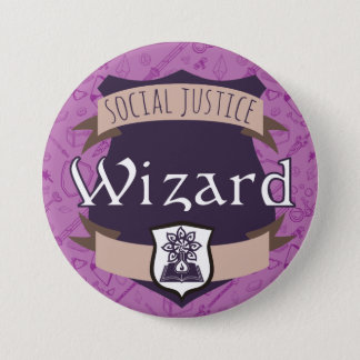 Social Justice Class Button: Wizard 7.5 Cm Round Badge