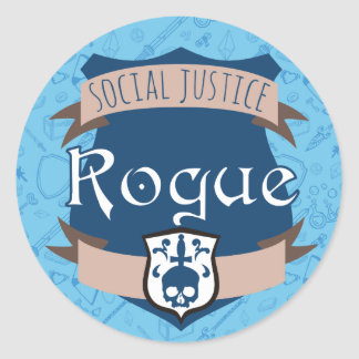 Social Justice Class Sticker: Bard Classic Round Sticker