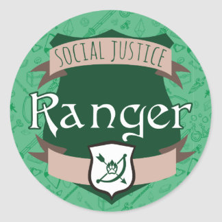 Social Justice Class Sticker: Ranger Classic Round Sticker