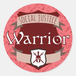 Social Justice Class Sticker: Warrior Round Sticker