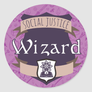 Social Justice Class Sticker: Wizard Classic Round Sticker