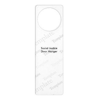 Social Justice  Door Hanger