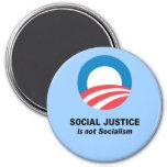 Social Justice is not socialism Refrigerator Magnet