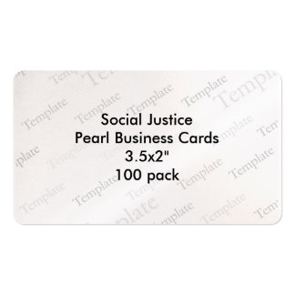 Social Justice Pearl Business Cards 3 5x2 100 pk