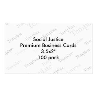 Social Justice Premium Business Cards 3 5x2 100
