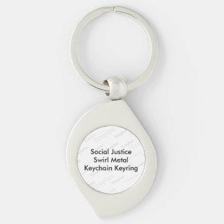 Social Justice Swirl Metal Keychain Keyring