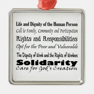 Social Justice Themes Christmas Ornament