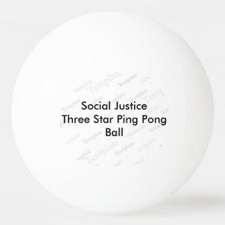 Social Justice Three Star Ping Pong Ball