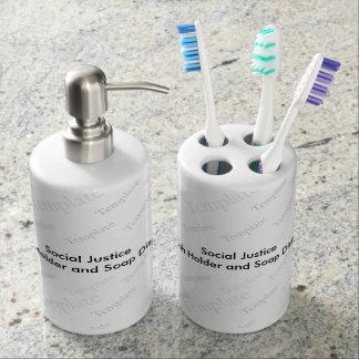 Social Justice Toothbrush Holder Soap Dispenser
