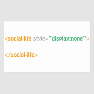 social life - directive rectangular sticker