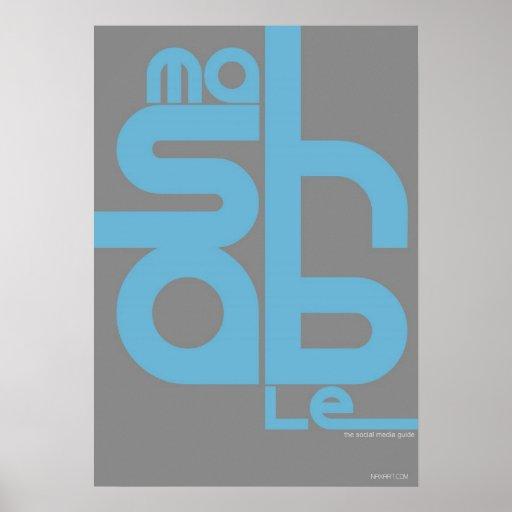 Social Media Art and Design Poster