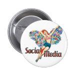 Social Media fairy pin-up